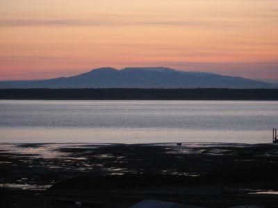 Sleeping Lady vue d'Anchorage, Alaska