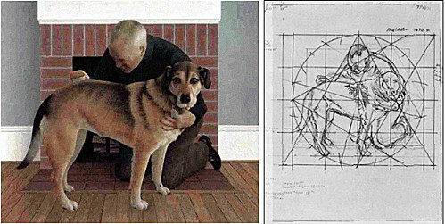 1991 - Alex Colville - Dog and Groom