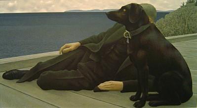 1994 - Alex Colville - Prêtre et chien