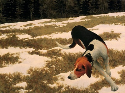 1958 - Alex Colville - Hound in Field