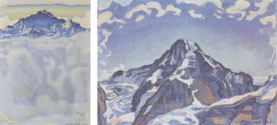 La Jungfrau (1908) et le Moine (1911) par Ferdinand Hodler
