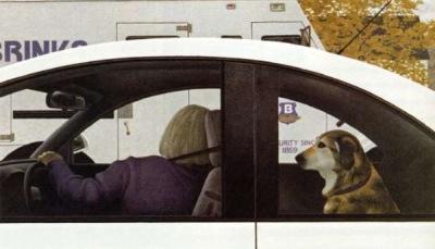 1999 - Alex Colville - Dog in Car