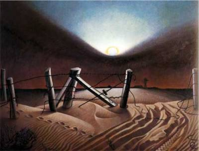 Dust Bowl, Alexander Hogue, 1933