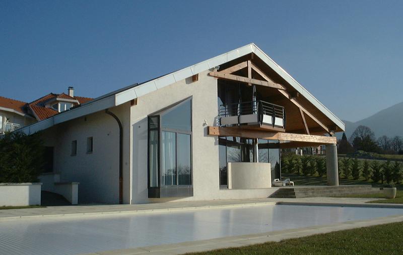 Maison brun à annecy le vieux architecte bernard lemaire