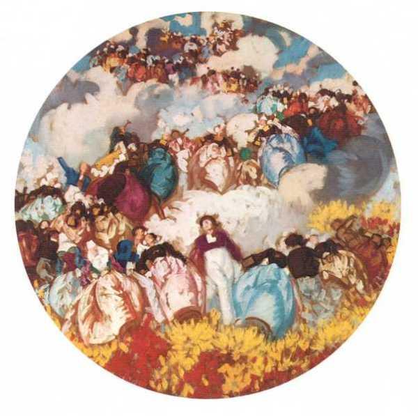 Plafond de l'opéra de Rennes - Lemordant