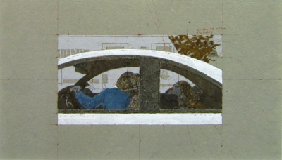 "1999 - Alex Colville -Study for  ""Dog in Car"""
