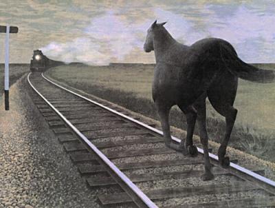 1954 - Alex Colville - Horse and Train