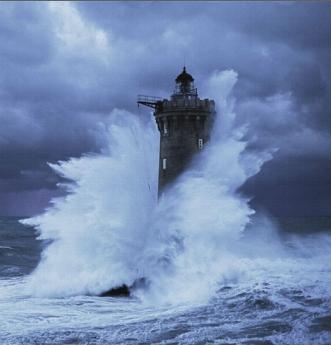 phare du Four en Bretagne à partir d'une photo de Jean