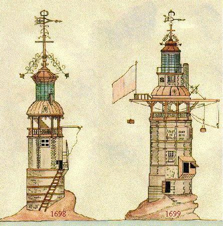 Anciens phares d'Eddystone- 1698 ET 1699