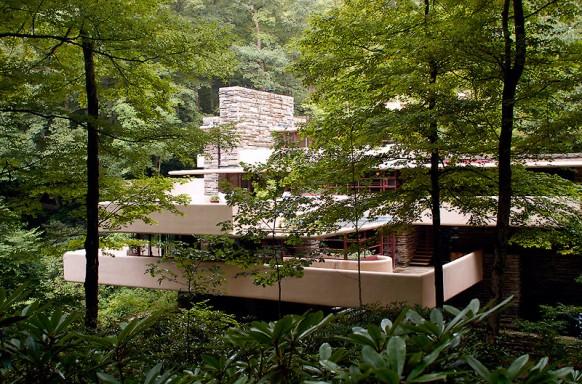 Frank lloyd wright de paysage en paysage for Maison de la cascade