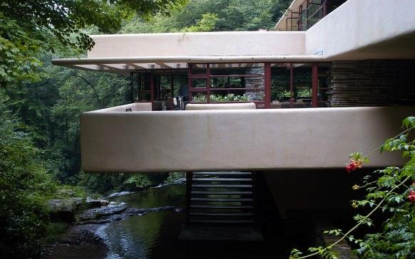 Maison sur la cascade de paysage en paysage - Frank lloyd wright maison cascade ...