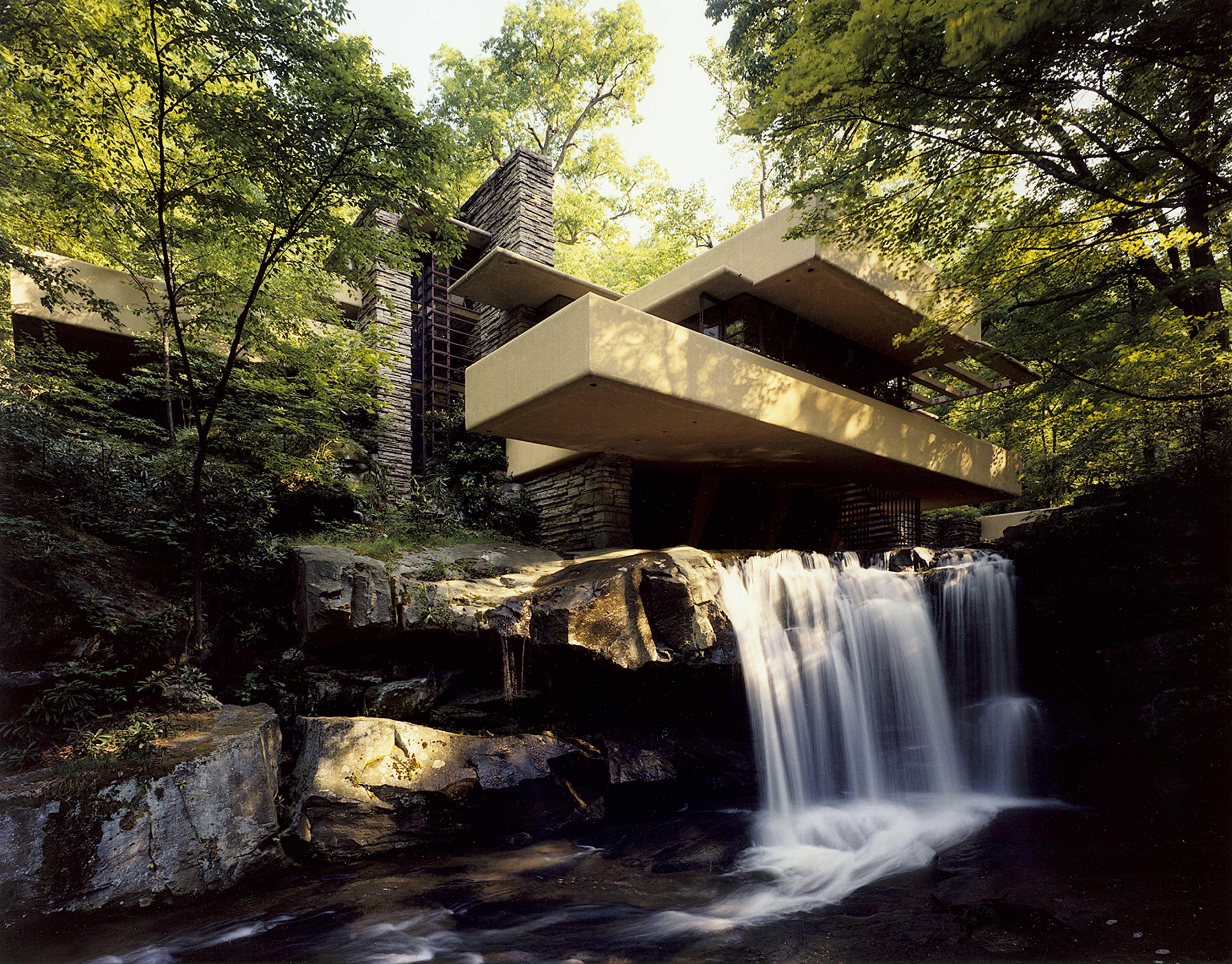 Maison sur la cascade 1936 39 pensylvanie architecte frank lloyd wright