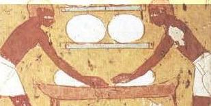 painEgypte ancienne : pétrissage de la pâte