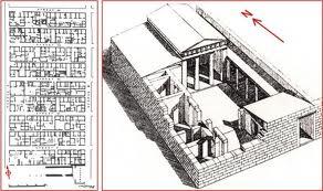 plans d'un quartier et d'une maison urbaine à Olynthus (Ve siècle av. J.C.)
