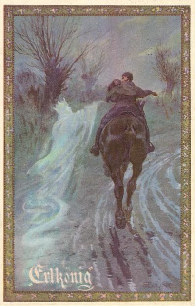 'Erlkönig' byF. Jung. Wia-Künstlerkarten-Verlag, Postcard, 1920