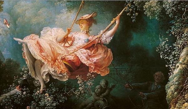 Fragonard, les hasards heureux de l'escarpolette, détail