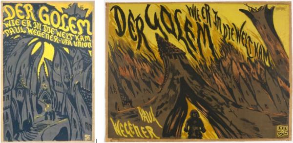 """affiches du film """"Der  Golem, wie er in die Welt kam"""", 1920"""