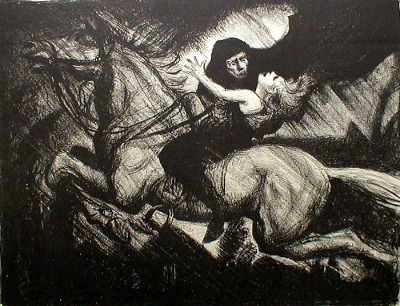 Erlkoenig, illustration de Albert Sterner, vers 1910