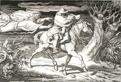 Georg Wigand 1876. Erlkönig illustration de Hermann Plüddemann [1809-1868]