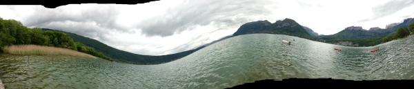 chaos au lac d'Annecy