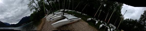 chaos sur le lac d'Annecy
