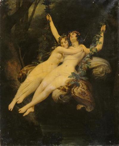 L'Escarpolette, Monvoisin Raymond-Quinsac (1794-1870) musée du Louvre