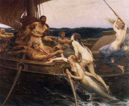 Ulysse et les Sirènes, Herbert James Draper, 1909