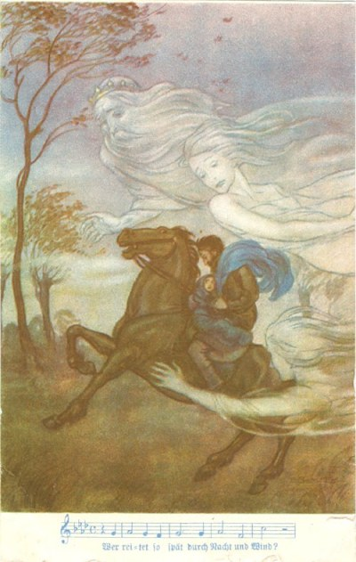'Wer reitet so spät durch Nacht und Wind Mit Noten'. Eckart-Verlag, Wien, VIII., Fuhrmannsgasse 18
