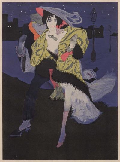 Walter Schnackenberg, Zeichnung zum Gedicht -Ballade – 1912, revue Simplicissimus