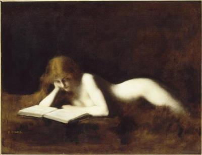 Jean Jacques Henner - la liseuse - 1883