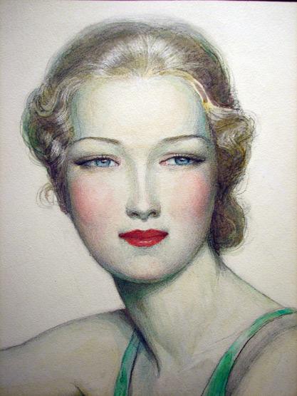 Wladyslaw Teodor Benda - portrait de jeune femme