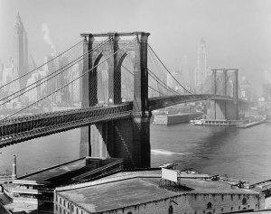Brooklyn Bridge - New York 1950 - Feininger