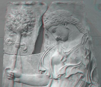 Ménade dansante, copie romaine d'un original grec sculpté à Athènes à la fin du Ve siècle avant J.C. traditionnellement attribué à Callimacus,  env. 27 à 14 av. J.C.