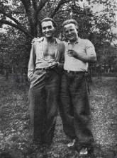 Vladimir Holan et Frantisek Halas en 1935