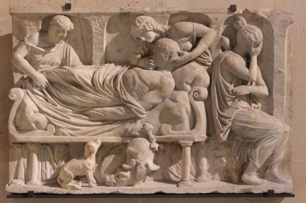 La Mort de Méléagre, Louvre, Ma 654 - auteur Caroline Léna Becker