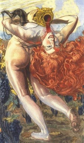 Carlos Schwabe, les Fleurs du mâle, l'âme du vin