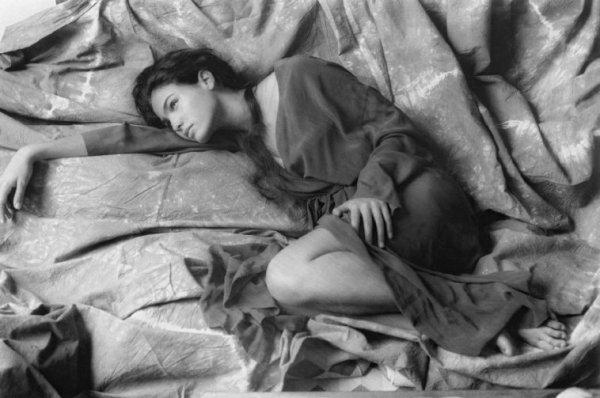 l'actrice espagnole Inès Sastre à Milan - Scianna/Magnum