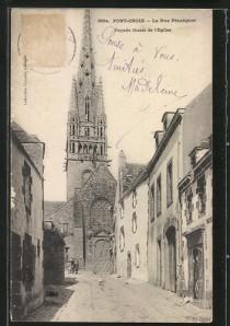 Pont-Croix, la rue Pénanguer, 1906