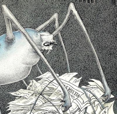 Walter Schnackenberg - Spinne mit Maulkorb - détail (1958)