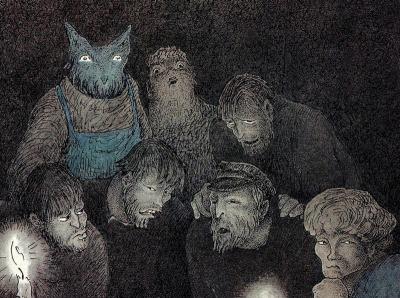 Walter Schnackenberg - Das Komitee (détail) - 1958