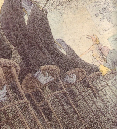 Walter Schnackenberg - Die Rauschtranke (détail du coin à droite) - 1949