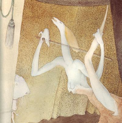 Walter Schnackenberg - Die Virtuosin - détail - 1949