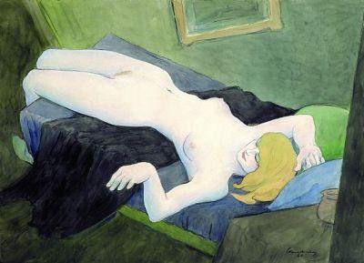 Walter Schnackenberg - Liegender weiblicher Akt - 1960