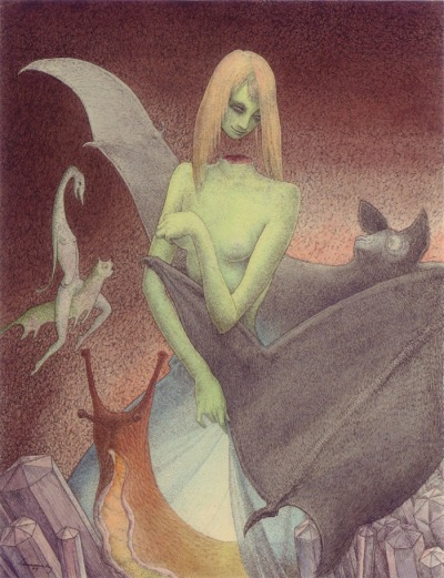 Schnackenberg - The decapitated girl and the bat - 1949