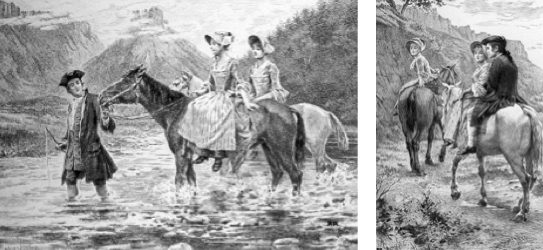.J. Rousseau, la traversée du Fier près du col de Bluffy