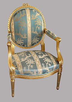 fauteuil louis xvi dor de paysage en paysage. Black Bedroom Furniture Sets. Home Design Ideas