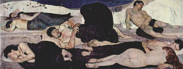 Ferdinand Hodler - la Nuit - 1889-1890