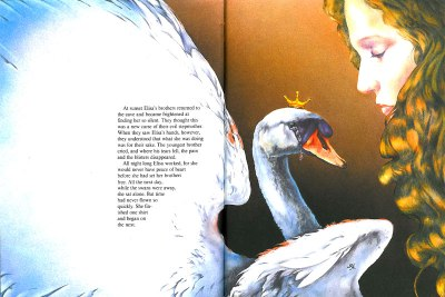les Cygnes sauvages - illustration Juan Diaz-Toledo.