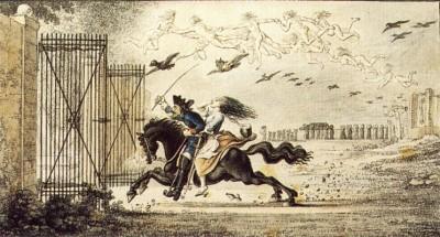 Lénore - aquarelle de Daniel Chodowiecki - 1784