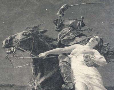 Lenore - détail de l'illustration de  Frank Kirchbach - 1896